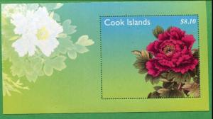 COOK ISLANDS #1363 MNH Souvenir Sheet - FLOWERS CAT VALUE $13
