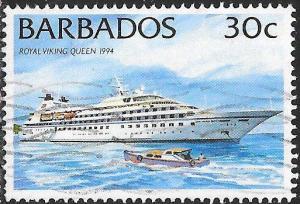 Barbados 875 Used - Ships - Royal Viking Queen