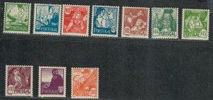 Portugal Sc#605-614 M/NH/F-VF, Cv. $110