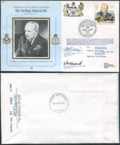 CMD9a RAF COMMANDERS Sir Arthur Harris signed Gp Capt Baldwin and McKendrick (G)