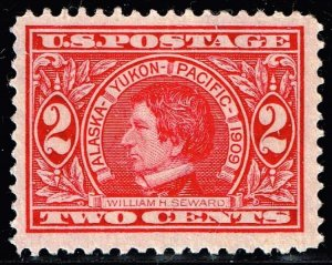 US STAMP #370 – 1909 2c Seward, carmine, perf 12 UNUSED NG STAMP