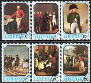 Liberia Used 525-30 Paintings Of Napoleon