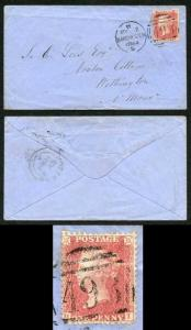 Penny Star (HI) Plate 51 on Cover SG42 (Horizontal crease) Ex Alcock