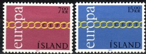 Iceland #429-30 F-VF Unused  CV $5.00 (X2234)