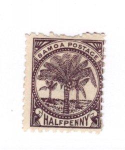 Samoa #9d Perfs Used - Stamp CAT VALUE $5.75