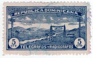 (I.B) Dominican Republic Telegraphs : 5c Blue (1920)
