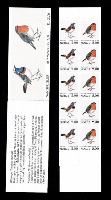 [59892] Norway 1982 Birds Vögel Oiseaux Ucelli Booklet MNH