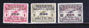 Ecuador C32-C34 Set MH Overprints