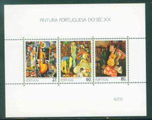 Portugal Scott 1740a 20th Century Art Sheet 1988