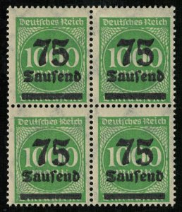 1923, Overprinted Stamps, 75/1000 Marke, Deutsches Reich, Germany (3536-T)