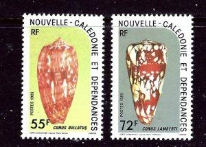 New Caledonia 521-22 MNH 1985 Sea Shells    (ap3761)
