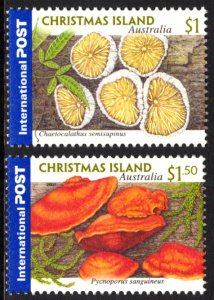 Christmas Island 2001 Mushrooms Scott #432-433 Mint Never Hinged