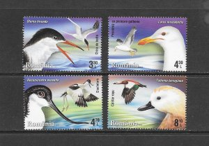 BIRDS - ROMANIA #5705-08  MNH