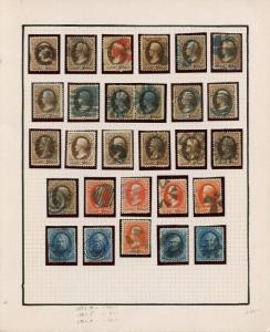 #157 x19, 5 #178, 4 #179 (28) DIFF USED W/ FANCY CANCELS MOUNTED ON PAGE BT5298