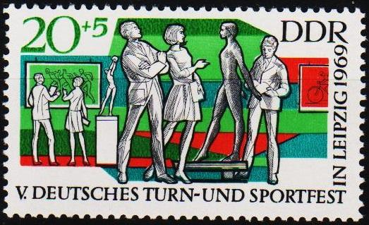 Germany(DDR).1969 20pf+5pf S.G.E1207 Unmounted Mint