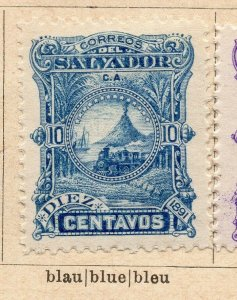 Salvador 1891 Early Issue Fine Mint Hinged 10c. NW-11845