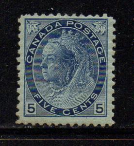 Canada Sc 79 1898 5c blue Victoria numeral stamp mint