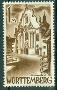 Germany - French Occupation - Wurttemberg - Scott 8N13 (SP)