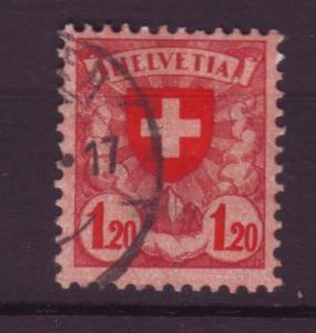 J18527 JLstamps 1924 switzerland used #201 cross