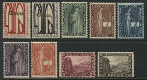 Belgium 1928 Semi-postal Orval Abby complete set mint o.g.