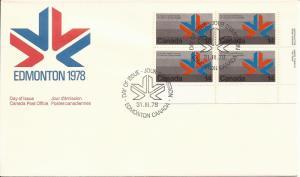 1978 Canada FDC Sc 757 - 1978 Commonwealth Games - Games' Emblem PB LR