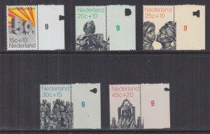 NETHERLANDS, 1971 Social Welfare Funds set of 5, marginal, mnh.
