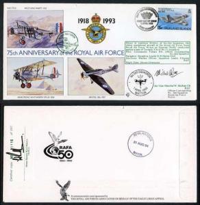 RAF(75)6c 75th Ann of the RAF No.360 Sqn Signed by W. McRae