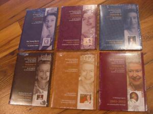LIQUIDATION:Sealed Volume #1 to 6 Queen Elizabeth ll Diamond Jubilee Canada 2012