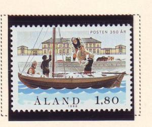 Aland Sc 29 1988 1.8m Mail Barrels stamp mint NH