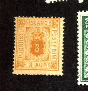 ICELAND #O4 MINT AVE-FINE NG HHR Cat $55