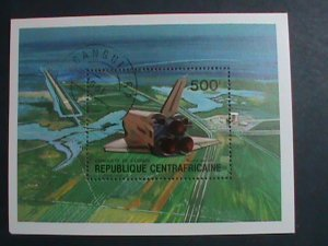 CENTRAL AFRICA-1981 UNITED STATES SPACE SHIP-CTO S/S VERY FINE PLEASE WATCH