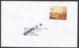 FIJI 1991 cover NANUKU P.A. postal agency handstamp........................50640