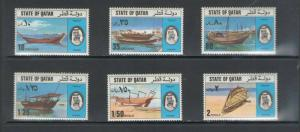 QATAR: Sc. 478-83 /** TRADITIONAL DHOWS[BOATS] **/  Complete Set / MNH-CV:$70+