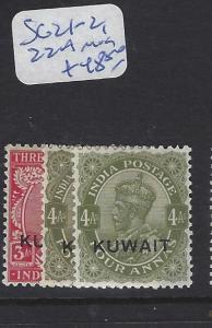 KUWAIT  (PP2102B)  ON INDIA KGV  3A-4A  SG 21-2, 22A    MOG