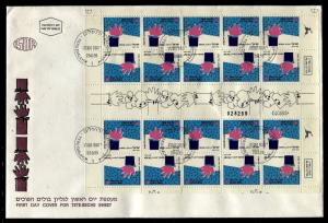 Israel Full Tete Beche Sheet - Greetings - See You Again on FDC 1990 . x20059