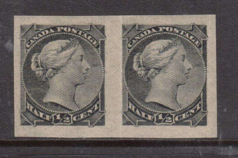 Canada #34a Extra Fine Never Hinged Imperf Pair