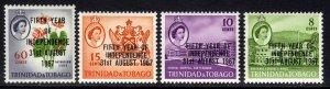 Trinidad & Tobago 1967 QE2 Set 5th Independence MM SG 318 - 321 ( J77 )