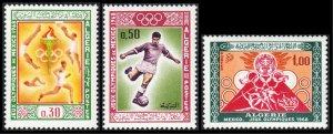 Algeria 1968 Mexico Olympic Games Soccer Pyramid Maya or Inca 400-402
