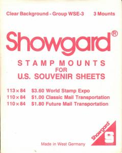 SHOWGARD CLEAR MOUNTS WSE (3) RETAIL PRICE $2.75