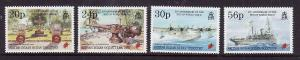BIOT-Sc#163-6-unused NH set-End of WWII-Ships-Planes-1995-please note there is a
