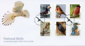 Guernsey 2019 FDC National Birds Europa Kingfishers Puffings 6v Set Cover Stamps