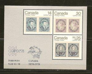 Canada 756a CAPEX 1978 Souvenir Sheet MNH