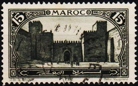 Morocco(French). 1917 15c S.G.128 Fine Used