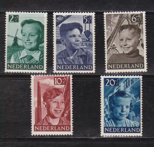 Netherlands # B 229-233, Mint Hinged