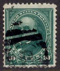 US Stamp #258 10c Webster USED SCV $20.00