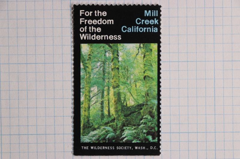 Mill Creek California Wilderness area Society Washington DC Poster charity Stamp