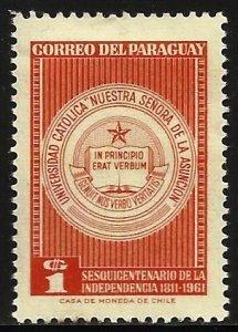 Paraguay 1961 Scott# 601 MH (small thin)