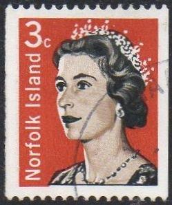 Norfolk Island 1968 3c Queen Elizabeth II used