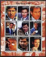 Turkmenistan 2000 Harrison Ford perf sheetlet containing ...