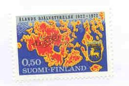 Finland Sc 516 Map and Arms of Aland stamp mint NH
